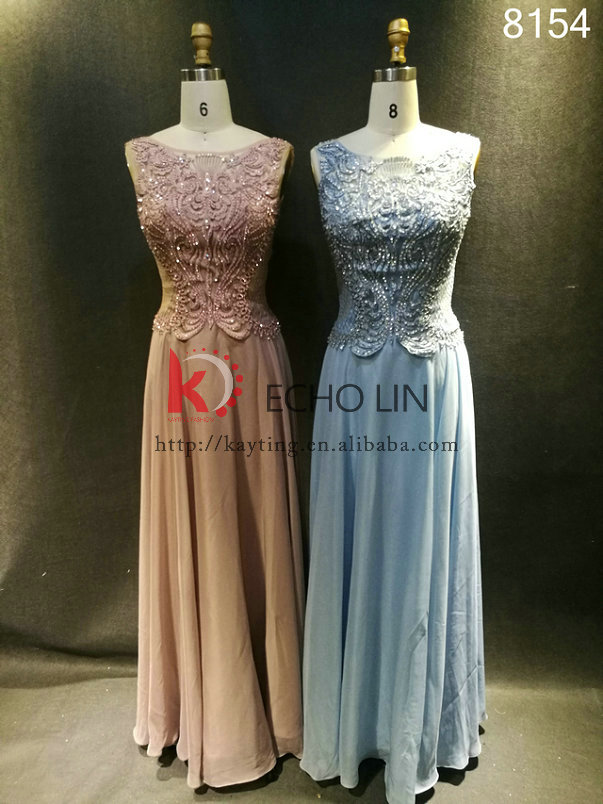 2016 the latest design for women dress elegant and noble sleeveless embroider beaded evening dress