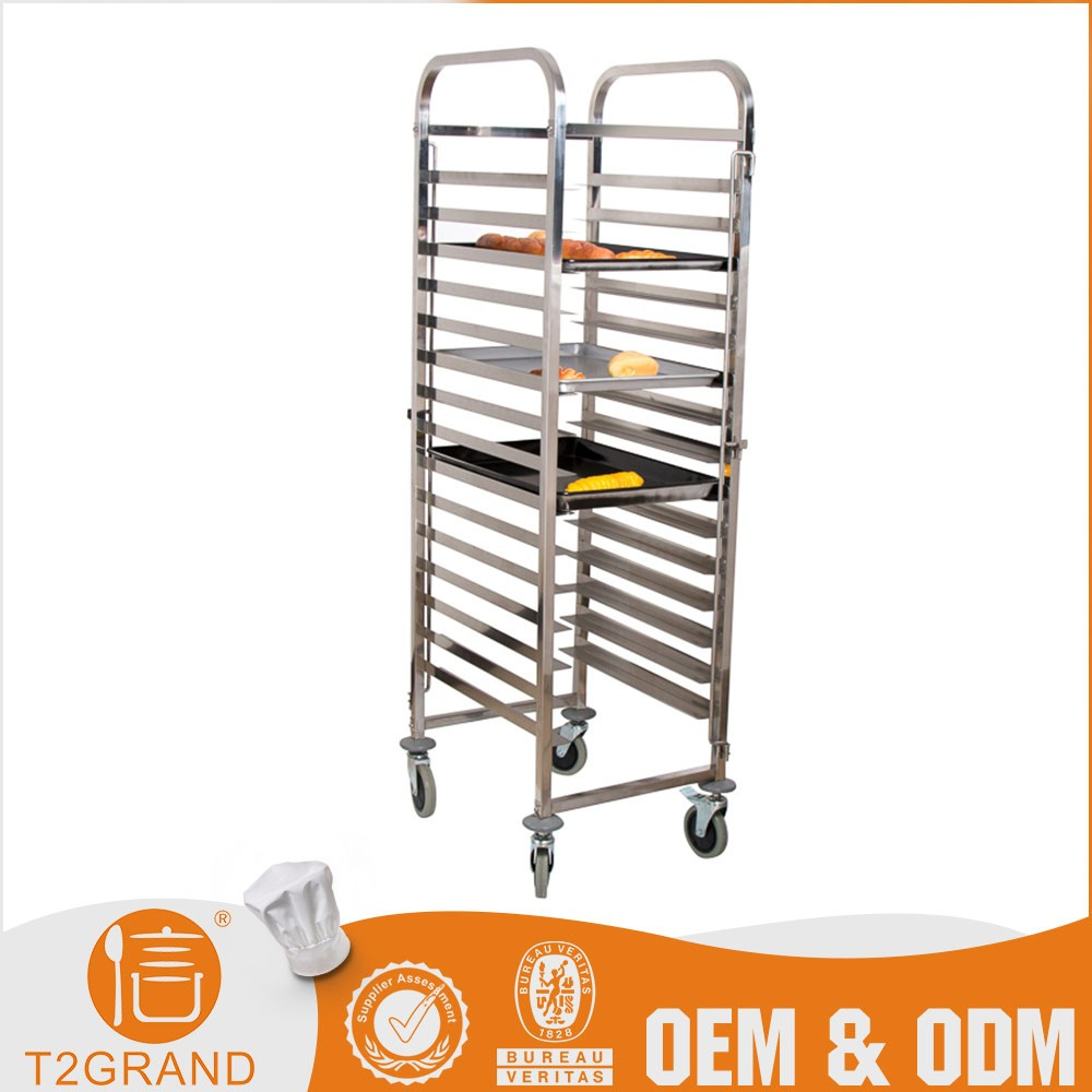 Tray Gn Pan Cooking Racks Trolley For Oven