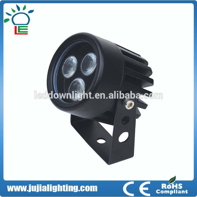 exterior/outdoor IP65 6w black color dimmable waterproof led spot lights