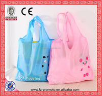 waterproof shopping bag foldable cute style folding bag colorful 190T polyester bags
