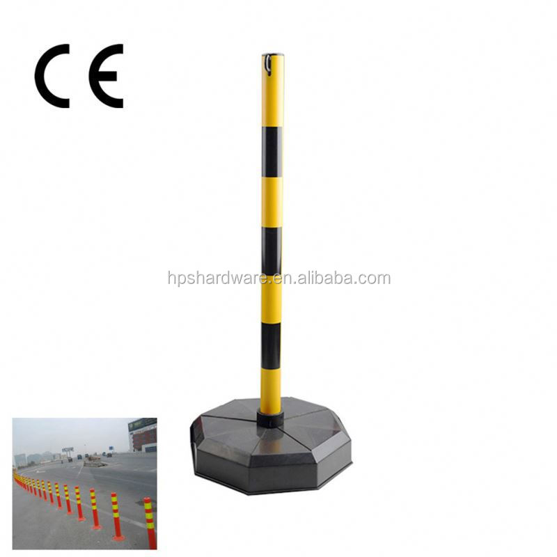 RFID Automatic stainless steel solar traffic bollard with LED lamp