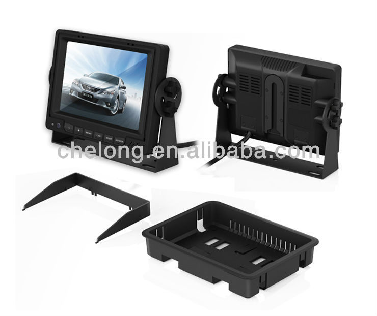 5 inch Digital panel with sunshade car LCD monitor