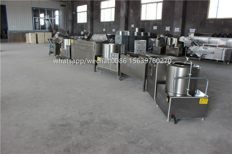 commercial potato chips fryer slicing machine /potato crisp making machine