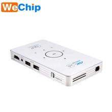 Portable Mini Android 5.1 4k Projector Amlogic S905 1000 Lumens Led Lamo 8gb/16gb Rom C6 Projector