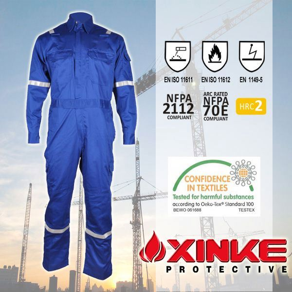navy fire retardant cotton coverall clothing