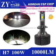2017 Super Bright Korean CSP h7 led headlight hid xenon motorcycle vs xhp70
