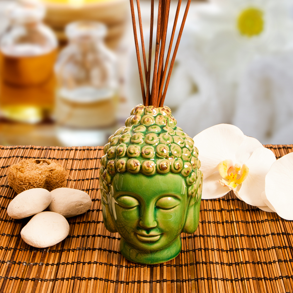 Buddha Reed diffuser, Rattan Diffuser with ceramic