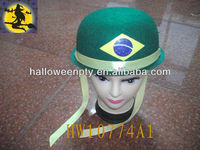 Ribbon Decoration Delicate Brazil Flag Headgear for Soccer Fans