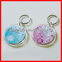 photo acrylic keychain/plastic photo keychain photo viewer