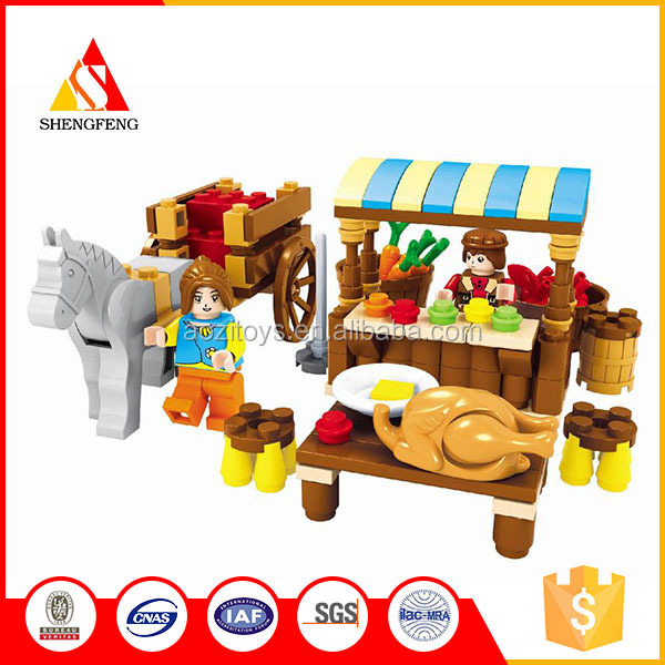 puzzle toys block toys children paly game for the supermarket