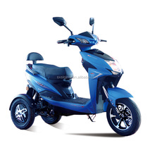 Tilting tilt 3-wheeler Three-wheeled Electric Scooter Dual-Rear-Wheel Motorcycle Tricycle with double motors