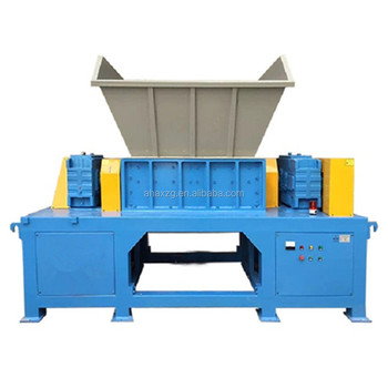 double shaft plastic shredder machine for Rubber Waste Car tire