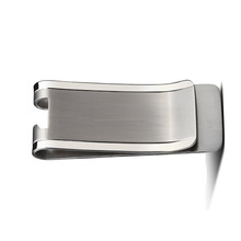 Outdoor Tools Polished Edge & Satin Center Titanium Bottle Opener Money Clip