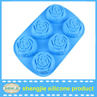 FDA LFGB Cute Mini Silicone Rose Cup Cake Chocolate Mold