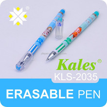 Newest cute erasable gel ink pen/advertising gel ink/kid cartoon erasable pens with clip