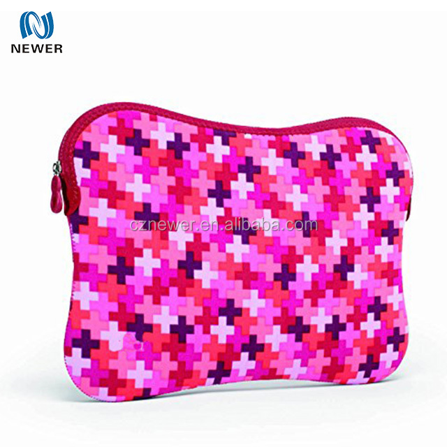 Promotional custom portable neoprene laptop sleeve with zipper