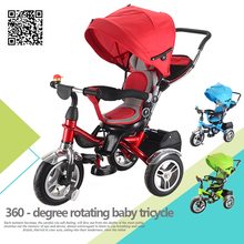 Baby trike stroller new design china three wheel tricycle with basket