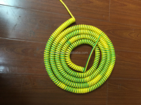 Single core 2.5mm square green spring cable grounding spring line OD 4.0MM