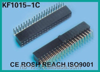 DUAL ROW FEMALE HEADER R/A PITCH 2.54MM H=8.5DUAL ROW FEMALE HEADER R/A PITCH 2.54MM H=8.5 PCB WITH POLARIZING BUMP