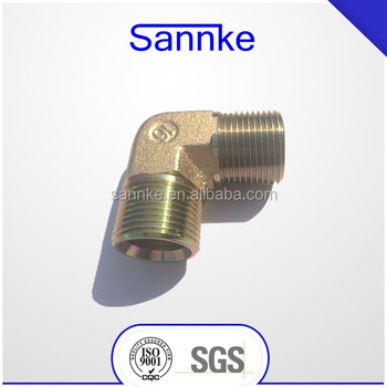 90 elbow BSPP male hydraulic adapters