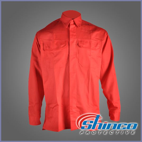 EN61482-1-2 100% COTTON lightweight fireproof shirt for danger job