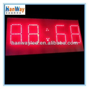 best led clock waterproof led number modules 7 segment led large digital wall clock time display