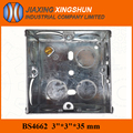 3x3 galvanized steel wall mounted junction box