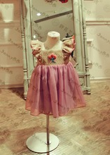 Wholesale Baby Girls Boutique Dresses Wholesale children's boutique clothing well dress wolf remake smocking handmade embroidery