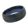 8mm Blue Domed Tungsten Carbide Wedding