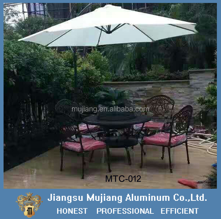 Patio Waterproof Antique Garden Set, Casting Aluminum Garden Furniture, aluminum Table and chair Set