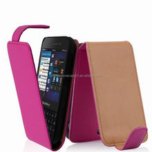 Flip Cover Leather Case for Blackberry Q5