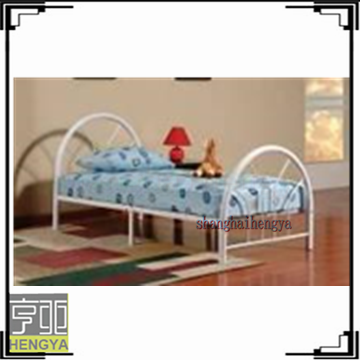 Hot sale cheap white power coated metal child bed