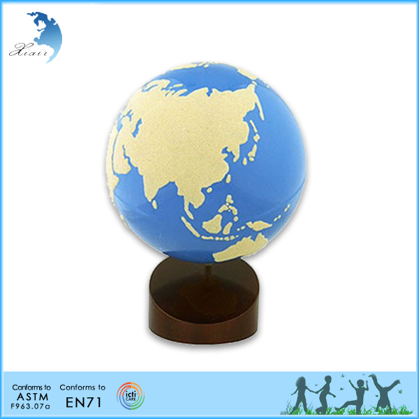 Professional beech school kids teaching aid geography montessori material