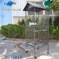 2016 hot sale pet product, metel wire decorative large bird cage parrot cages(made in china)