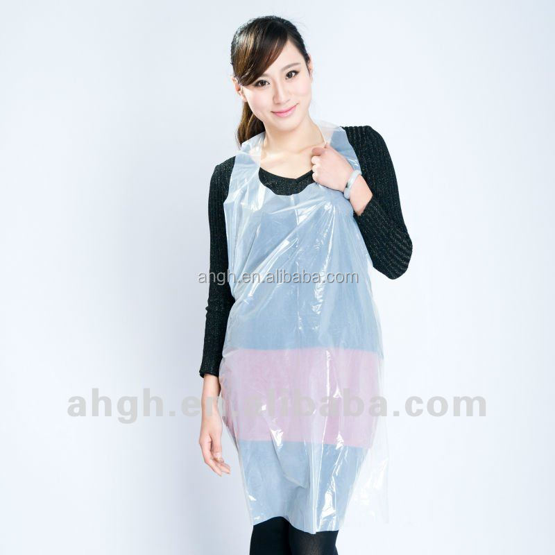 high quality disposable poly apron kitchen higiene poly aprons