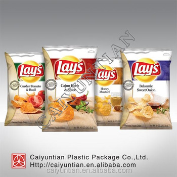 OEM potato chips package wholesale plastic packaging bag for dried snack packing