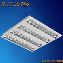 4x18W Fluorescent recessed grille lighting fixture-600x600mm