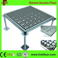 Computer room anti-static ventilation perforated hollow steel raised floor