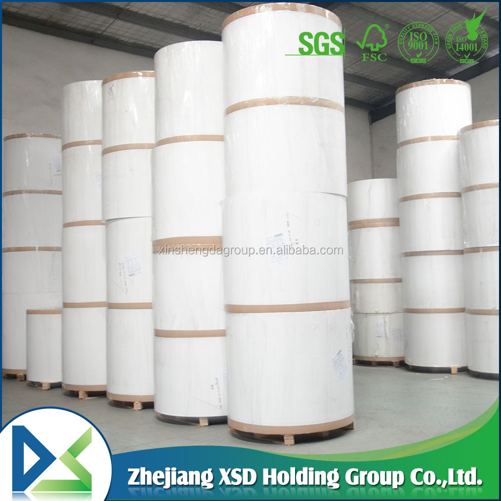 one side white coated paper grade AA 300g duplex paper board with grey back