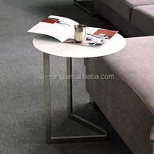 2016 stainless steel tea table with glass top