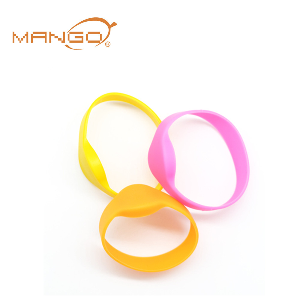 rfid wearable soft pvc paper nylon material wristbands wrist band tags