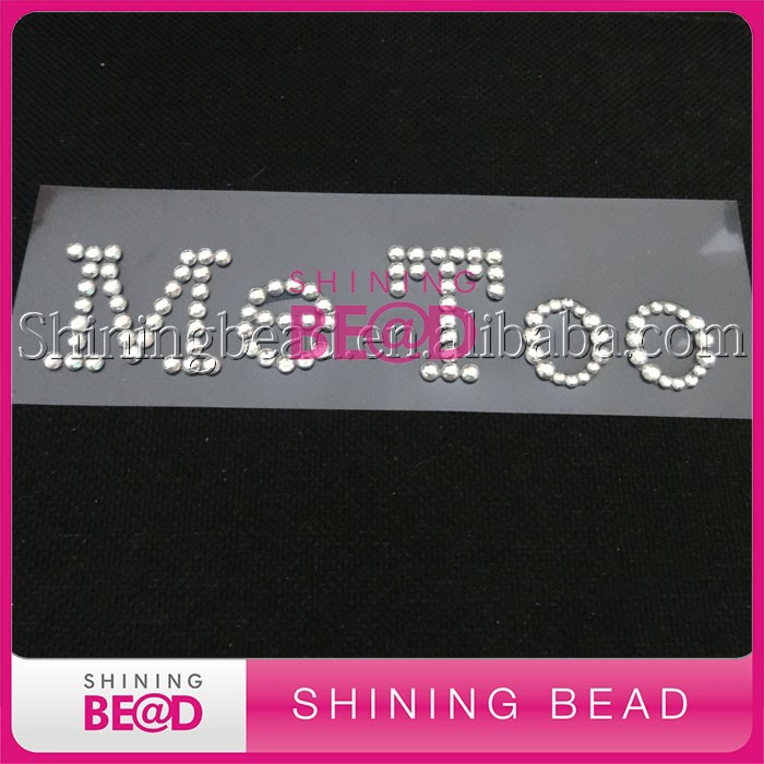 high-grade letter Me Too rhinestone letters stickers