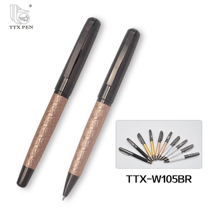 2017 custom promotional logo pen , wholesale stationery products ,best selling leather ball pen