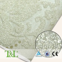 China famous brand glitter glass bead wallpaper sale