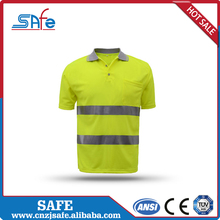 New design mesh printed safety high visibility safety polo t shirt