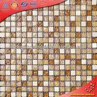 Decorative Interior Wall Tiles Glass Marble Mosaic Tile Murals to Dubai 15x15 (KS34)