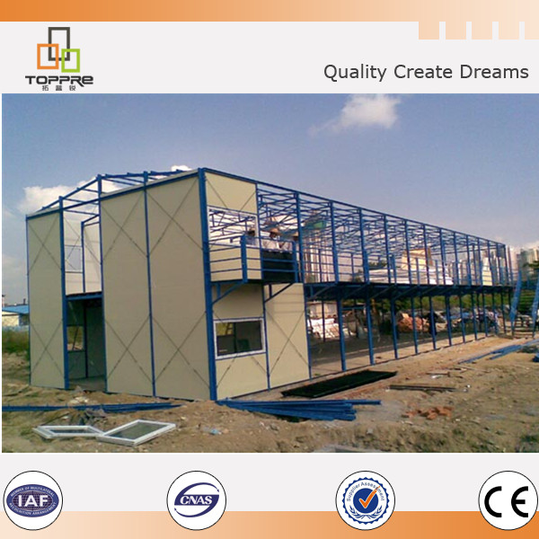 Top sale indonesia prefab temporary house for workers canteen , store