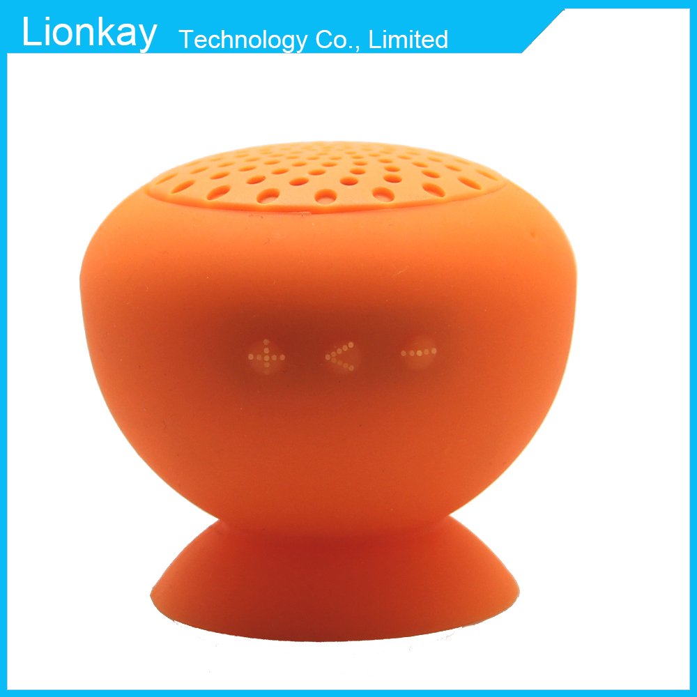 (top model) mushroom bluetooth waterproof speaker, mini bluetooth speaker box, hands free factory price bluetooth shower speaker