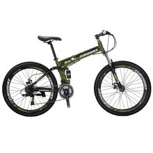 EUROBIKE G4 CHEAP STEEL 26 INCH 21 SPEED DUAL SUSPENSION FOLDING MOUNTAIN <strong>BIKE</strong>