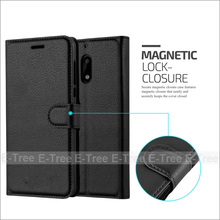 For Nokia 6 Lichee Wallet Pu Leather Book Flip Case Cover